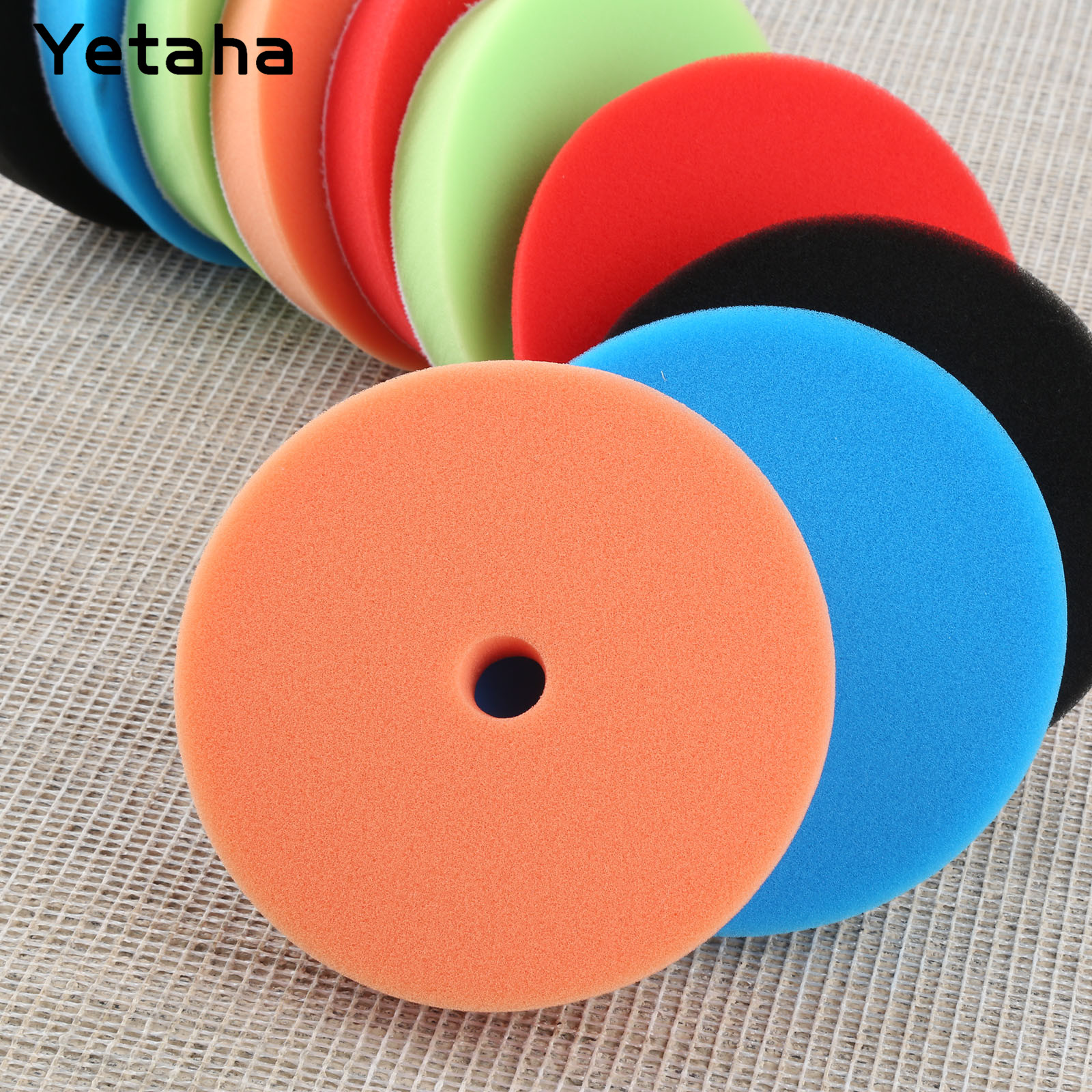 Image 4 - Yetaha 5Pcs 6inch 150mm Car Polishing Buffing Sponge Pads Set Car Wash For Car Polisher Cleaning Detailing Polishing Tool-in Sponges, Cloths & Brushes from Automobiles & Motorcycles