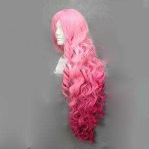 Image 5 - HAIRJOY Synthetic Hair Tsukimiya Ringo in Prince of Song  Cosplay Wig  Red Pink Ombre Curly Wigs