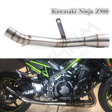 Motorcycle Full Exhaust Middle Pipe Connection Link Pipe Round 51mm Muffler Slip On For Kawasaki Z900 Ninja900 motorcycle exhaust middle pipe z900 connection link pipe fit for 51mm muffler slip on for z900 exhaust z900 mid pipe