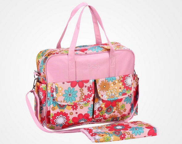 Promotion! fashion diaper bag big nappy bags for mommy multifunctional maternity stroller bag
