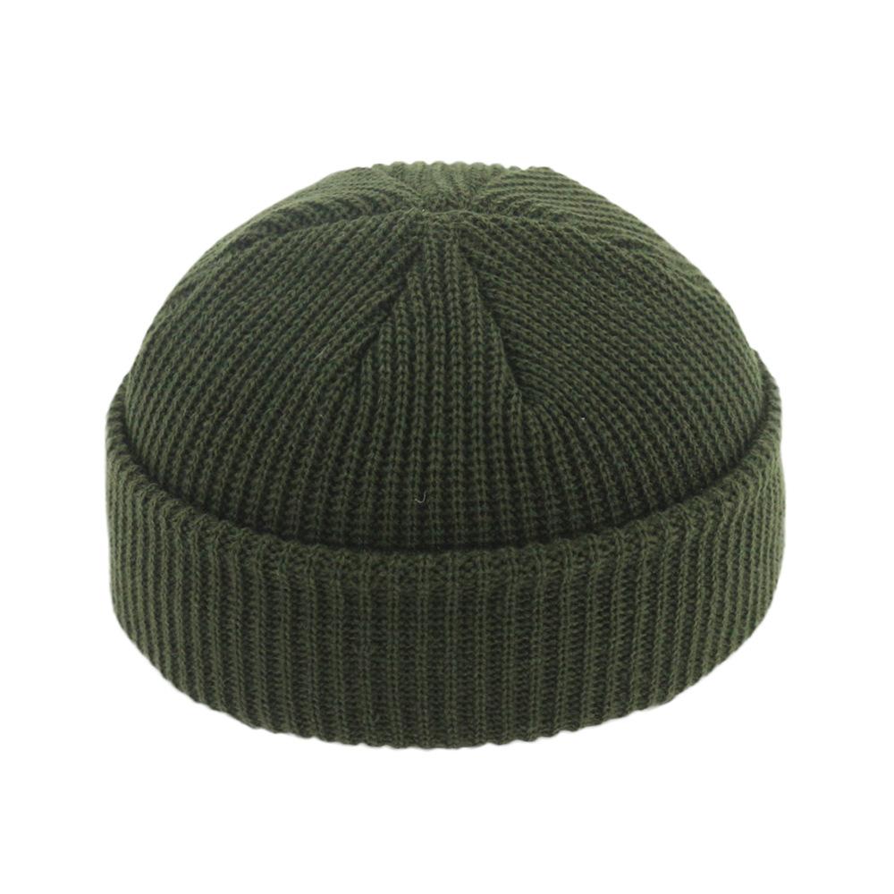 52b95462d Hot Sale] Brimless Hats Hip Hop Beanie Skullcap Street Knitted Hat ...