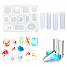 5 In 1 Earring Crystal Bracelet Pendant Mold Set Silicone Epoxy Resin Bracelet DIY Water Drop Handmade Tool Jewelry Making Craft