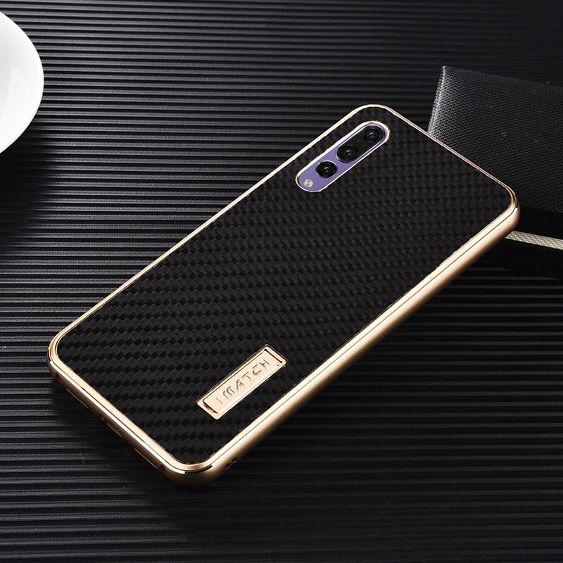 Huawei P20 Pro przypadku aluminium Metal + Carbon Fiber rzeczywistym warstwy etui na Huawei P20/P20 Pro tylna pokrywy luksusowy twardego przypadku ochrony w Dopasowane obudowy od Telefony komórkowe i telekomunikacja na AliExpress - 11.11_Double 11Singles' Day 1