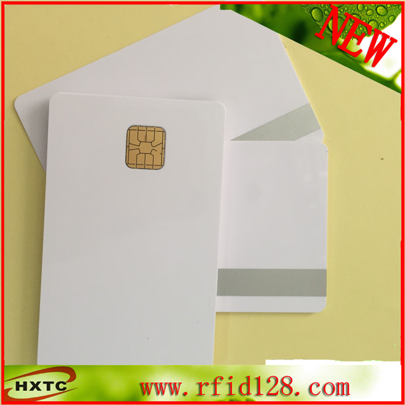 100pcs big Chip Card PVC Contact Smart IC sle4428  + 2track sliver Magnetic Stripe For POS / Member/ Payment System 20pcs lot contact sle4428 chip gold card with magnetic stripe pvc blank smart card purchase card 1k memory free shipping