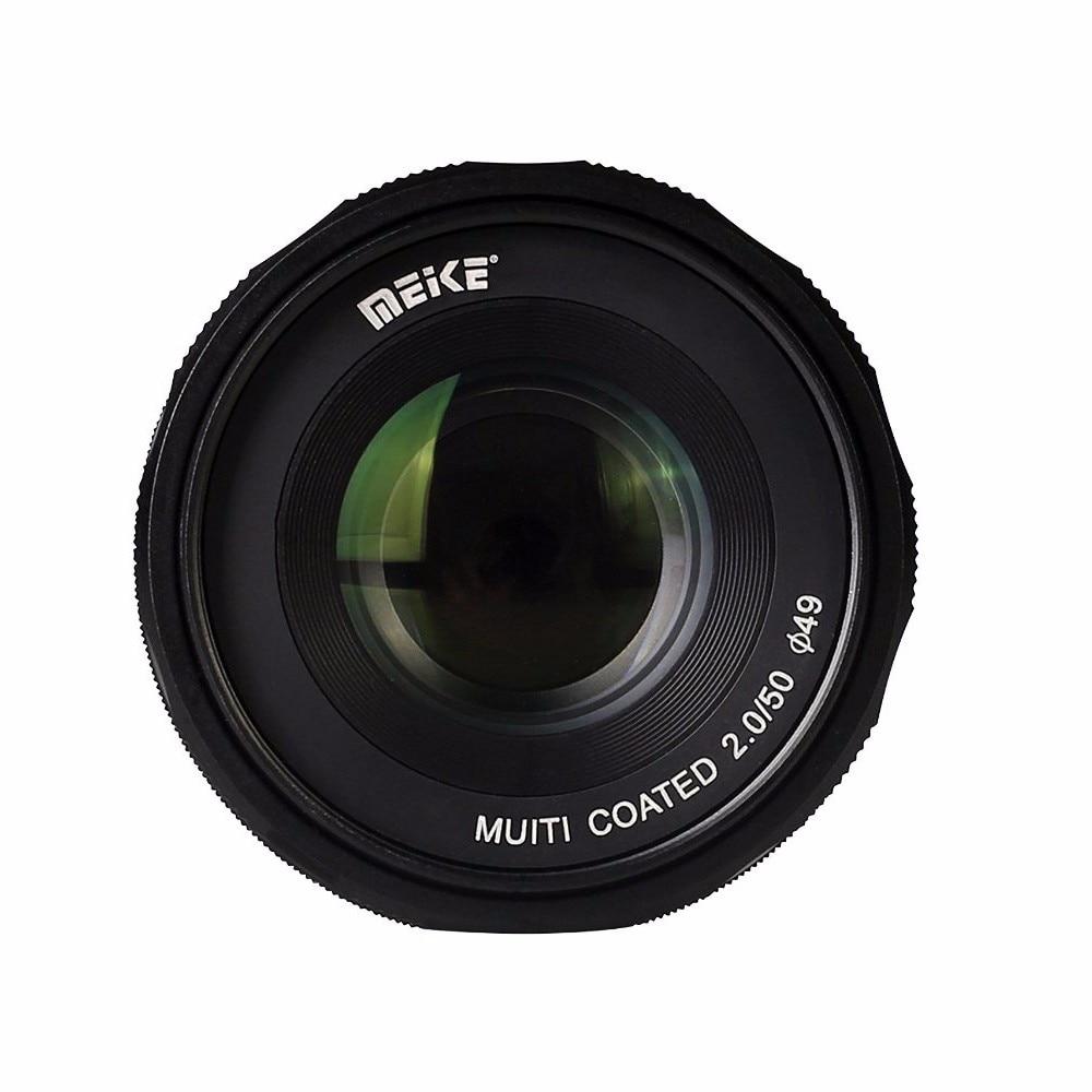 Meike MK-E-50-2.0 50mm f2.0 Large Aperture Manual Focus lens APS-C Lenses For Sony E Mount a6300 NEX7 DSLR Camera 35mm f 1 6 c mount lens for aps c sensor sony e nex 7 nex6 nex5t 5r 3 a5100 a6000 a5000 a3000 a6300 a6500