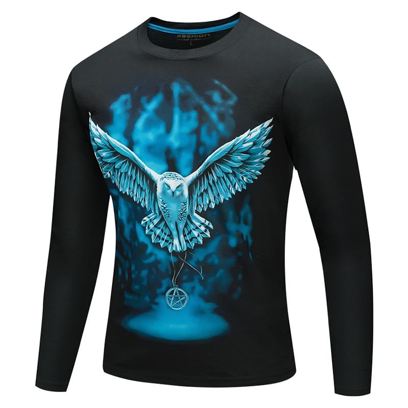 2019 New designs 3D Printed harajuku   T  -  shirt   Men Long Sleeve O-neck Cotton Slim Fit Tee Fitness Male streetwear   shirt   camisetas