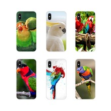 Accessories Phone Cases Covers lovely Parrot bird For Apple iPhone X XR XS MAX 4 4S 5 5S 5C SE 6 6S 7 8 Plus ipod touch 5 6(China)