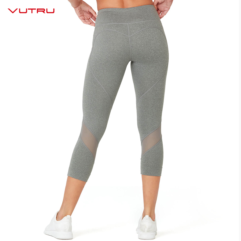 a0e3b1f31be3c Vutru Yoga Pants for Women Sports Wear Capris Sport Leggings Gym Fitness  Tummy Control