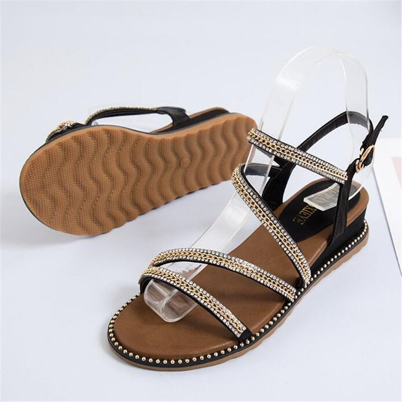 DIWEINI Sandals Shoes Cross-Tied Rome-Style Female Fashion