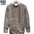 2017 spring men's round neck sweater hooded Korean version of the slim sweater leisure fashion comfortable men sweater 145
