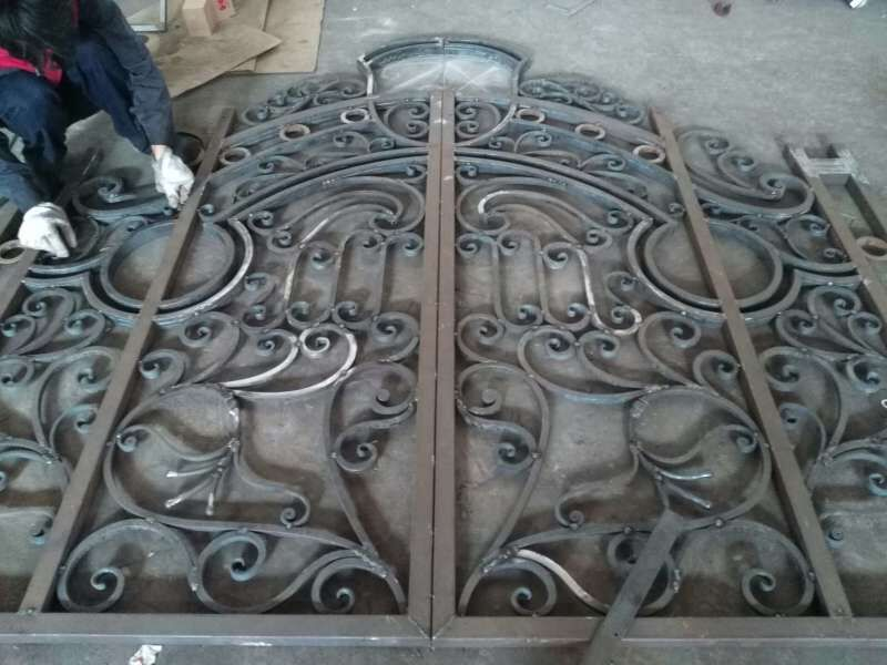 Hench Luxury Wrought Iron Gate Hc Lg11 Custom Size Acceptable In