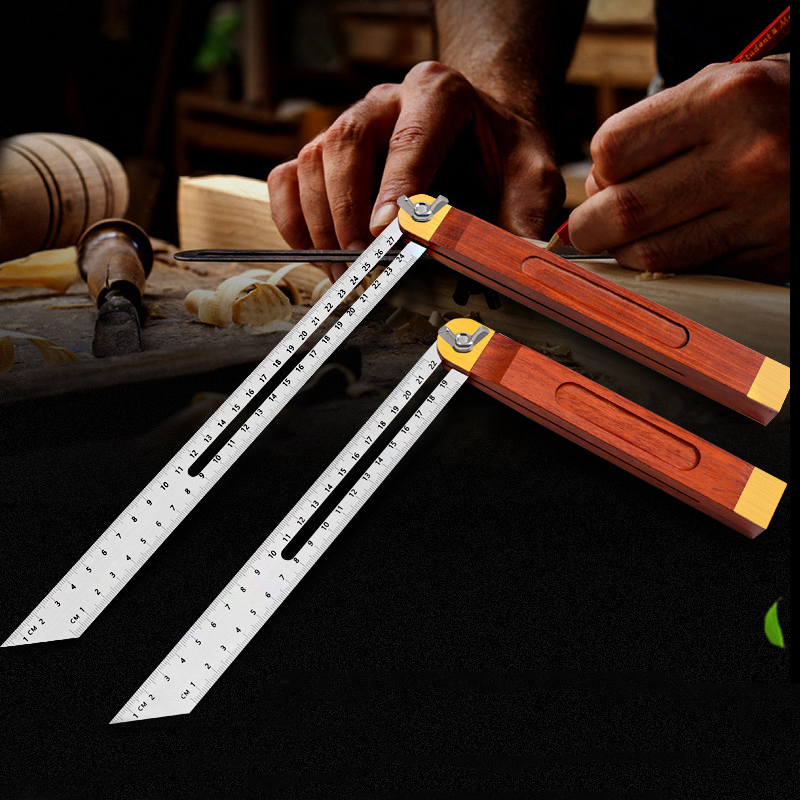 Multi Angle Woodworking Ruler Template Measuring Tool Instrument Brick Tile Wood Corner Products Foldable Ruler Protractor