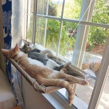 Кошачий окунь на окно, гамак, монтируемый на окно, кошачий набор для кровати, охлаждающий дышащий холст, присоски, для загара, гамак, кровать для кошек, собак