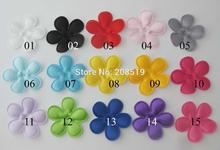 PANVNE Fashion flower patches for craft decoration 35mm padded floral felt 200pcs 15 colors choice