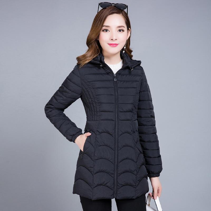 New Women Winter   Coats   Cotton Casual Fur Hooded Jacket Long Ladies Warm Winter Female Overcoat Women   Coat
