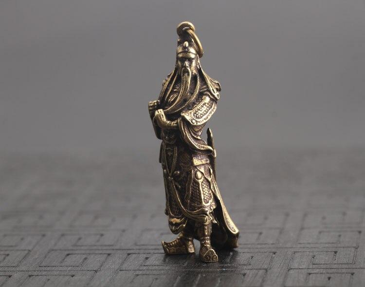 Guan Gong Statue Keychain Pendants  (2)