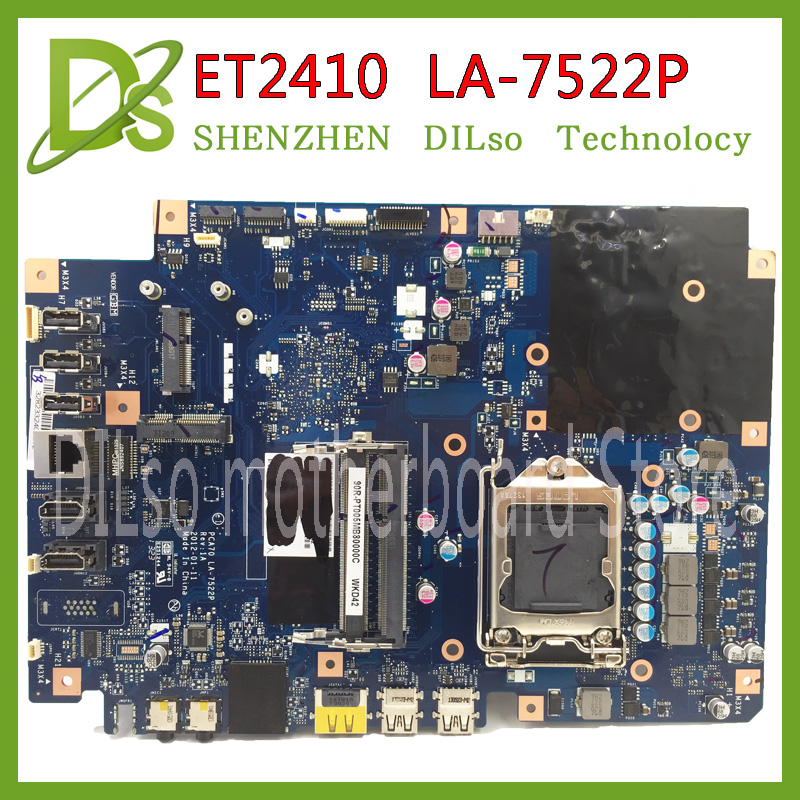 KEFU LA-7522P ET2410 ET2410I motherboard PCA70 LA-7522P REV 1A 60PT0040-MB1A01 motherboard Tested GM original motherboard for asus 23 6 et2410 laptop motherboard mainboard la 7522p 100% tested fast ship