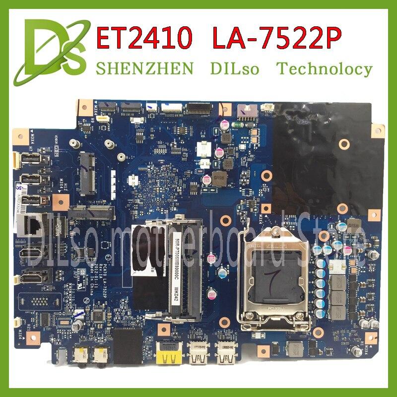 SHUOHU LA-7522P ET2410 ET2410I motherboard PCA70 LA-7522P REV 1A 60PT0040-MB1A01 100% Tested ipc floor pca 6114p10 rev b1 100% test