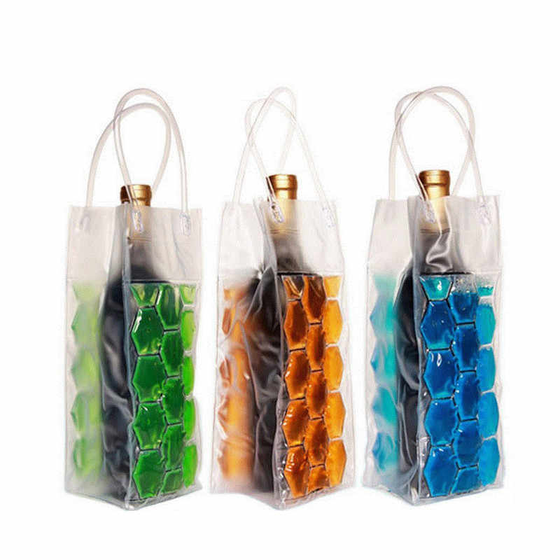 Hoomall Wine Bottle Freezer Bag Chilling Cooler Ice Bag PVC Beer Cooling Gel Holder Carrier Portable Bar Liquor Ice-cold Tool