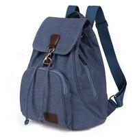 New Waterproof Cavans Women Backpack Casual Preppy Leather Black Backpacks Female Girls School Bags Ladies Backpack