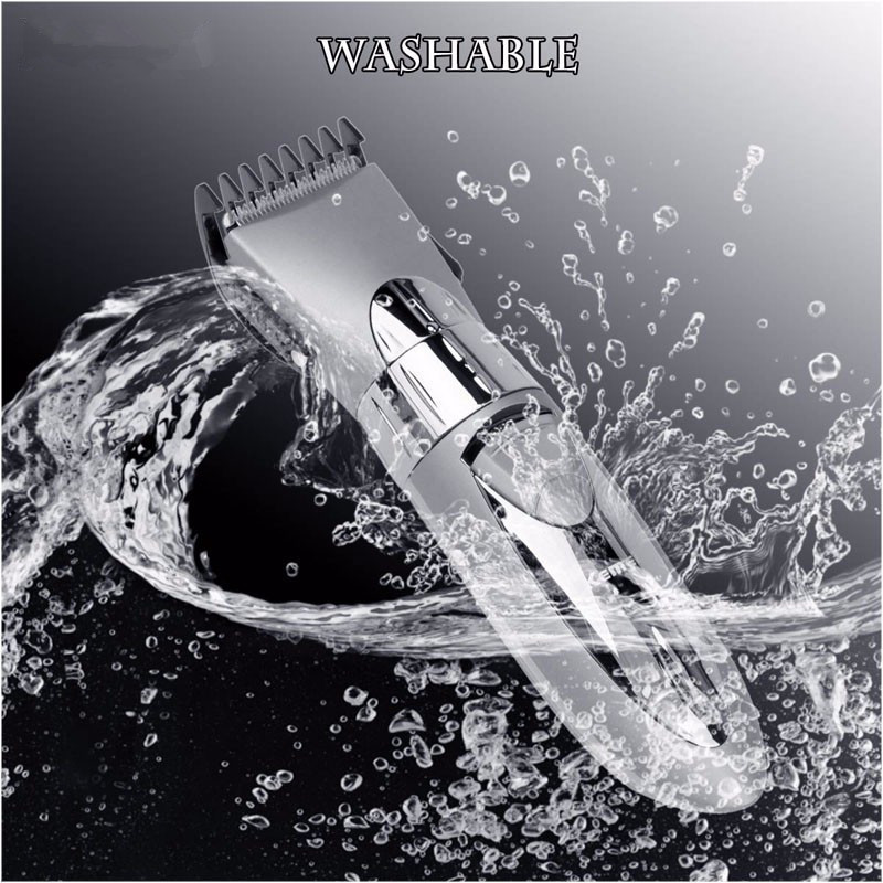Washable Water Resistant Professional Electric Hair Trimmer Clipper For Men Children Haircut Beard Hair Cutting Machine Tool 0 8 lcd rechargeable children water resistant hair clipper trimmer w accessories blue white