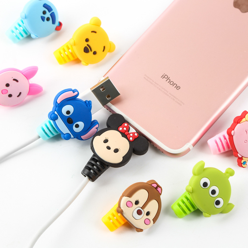 Lovely Unicorn Cable Protector Charger USB Cable Winder For Apple IPhone For Smartphone Cable Protect Decoration