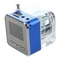 Mini Speaker LED SD / TF MP3 player speaker FM USB Sound Station Music Box Colours: Blue/ Green