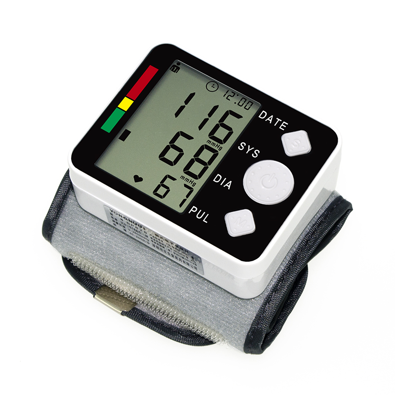 Health Care Automatic Digital Wrist Blood Pressure Monitor Meter Cuff Blood Pressure Measurement Health Monitor Sphygmomanometer