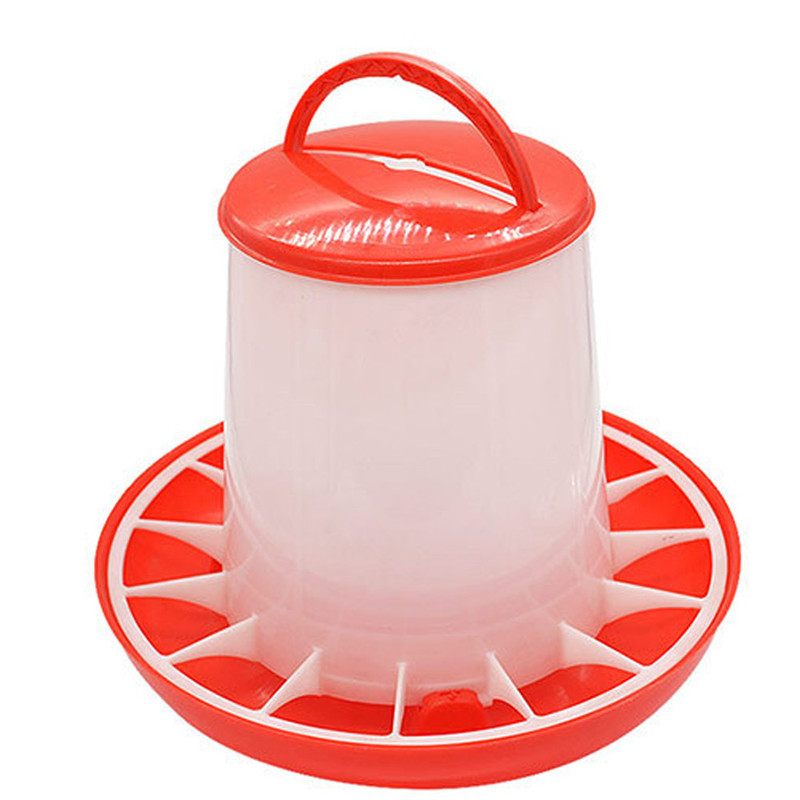 1.5kg Food Feeder Chicken Chick Hen Poultry Lid Handle Automatic Feeder Chicken Bucket Farm Animal Feeding Watering Supplies &