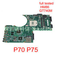 NOKOTION DABDBDMB8F0 A000255450 Laptop Motherboard For Toshiba Satellite P70 P75 HM86 DDR3L GT740M Main board Full works