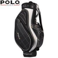 Бренд натуральной Гольф Стандартный мяч мешок Водонепроницаемый PU Для мужчин сумка тележка capacity11 13 Гольф клуб высококачественные антифрик