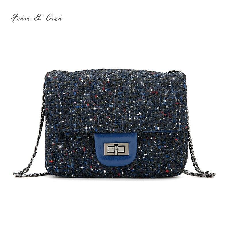 luxury brand chains flap bag women small tweed bag mini sequined party bag blue handbag sheepskin leather messenger bag 2018 new kronasteel kamilla power 3р 600 inox