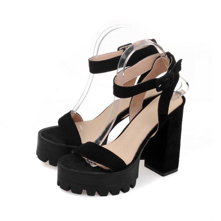 ФОТО Plus Big Size 34- 43 Genuine leather  Sandals  Ladies Platforms lady Fashion Dress Shoes Sexy High Heel Shoes Women Pumps A39