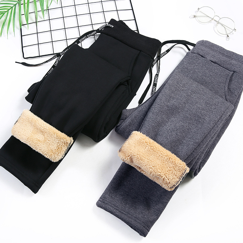 Winter Cashmere Harem Warm Pants Womens Velvet Thick Cotton Lambskin Pants Streetwear Loose Causal Joggers Women Trousers S-3XL