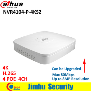 Image 2 - Dahua IP NVR kit 4CH 4K video recorder NVR4104 P 4KS2 & Dahua 6MP IP camera 4pcs IPC HDW4631C A H.265 cctv system support POE