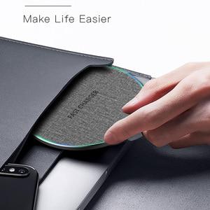 Image 5 - Cargador inalámbrico rápido Qi de 15W para Xiaomi 9, Huawei P30 Pro, almohadilla de carga rápida de 10W para Samsung S9, S10, iPhone X, XS, MAX, XR, 8 Plus