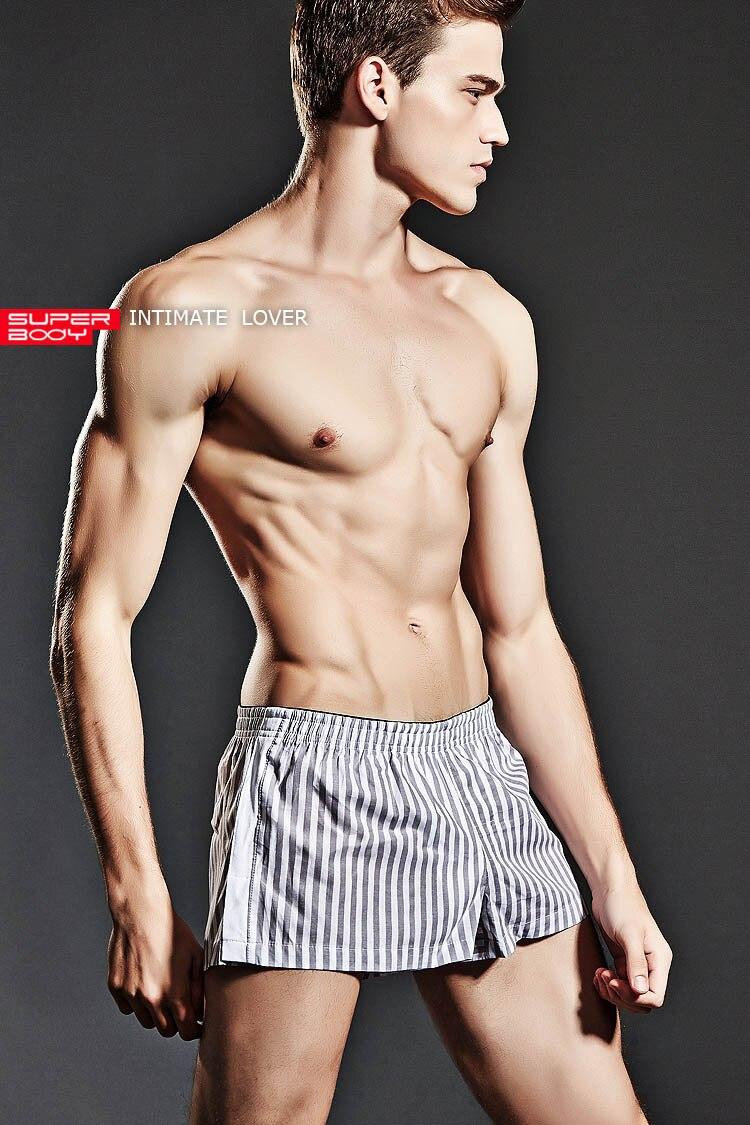 Topdudes.com - Men's Striped Boxers Sexy Home Arrow Pants