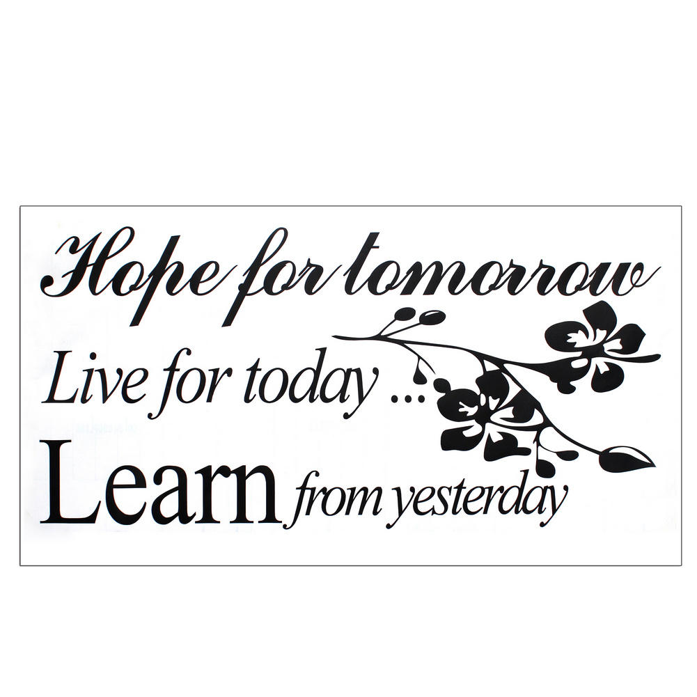 Live For Today Quotes Encouraging Pvc Live For Today English Quote Room Home Diy Decor