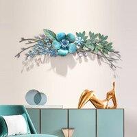 Креативная имитация растений Прихожая Подвеска железные настенные украшения трехмерные железные настенные подвески