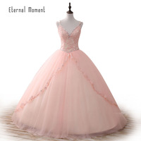 Pink Quinceanera Dresses 2017 Ball Gown Sweet 16 Dresses Princess 15 Years Party Gowns Vestido De
