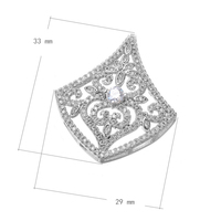 Luxury Silver Plating Micro Pave CZ Jewelry Flower Connector Fit Necklace Bracelet