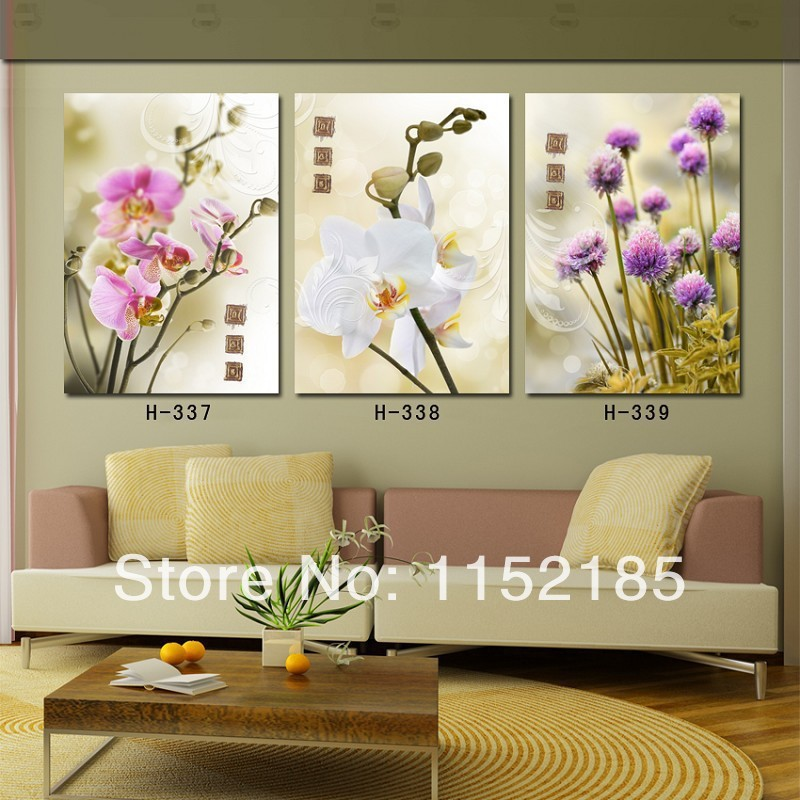 ᐃHot Sale 3 Piece Wall Art Blue Rose Canvas Paintings Decorate ...