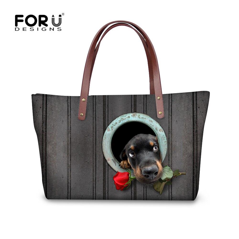 Forudesigns frauen handtaschen nette hund dackel muster dame - Handtaschen