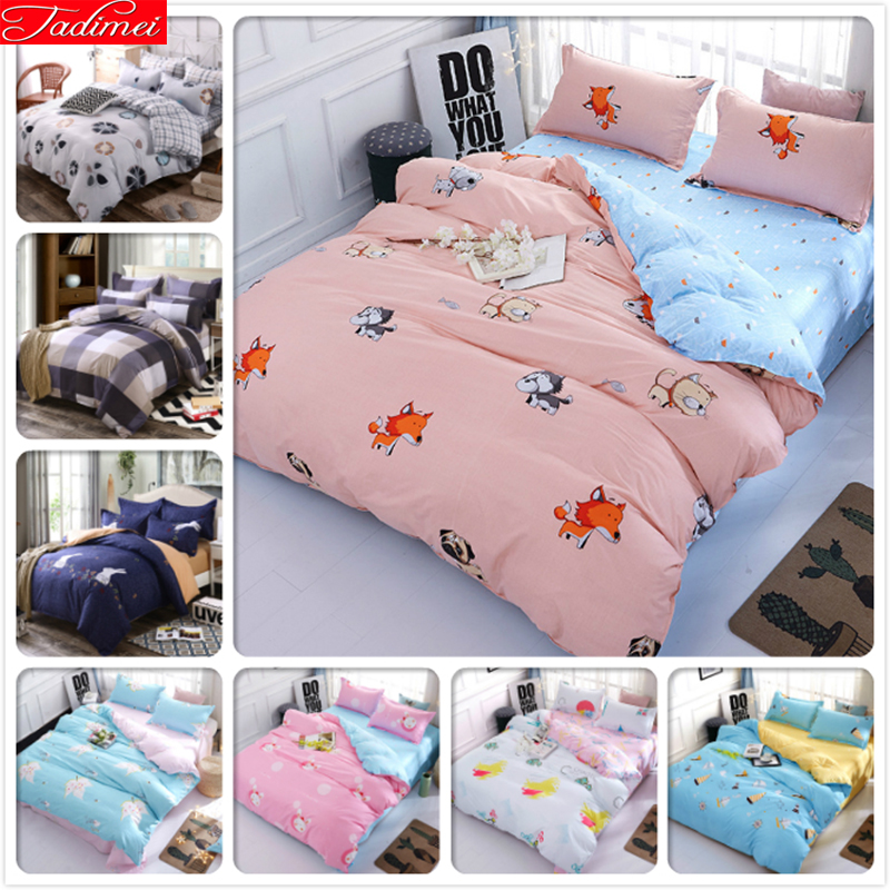 Single Twin Full Double Queen Super King Big Size Duvet Cover 3/4 pcs Bedding Set Soft Cotton Bed Linen 150x200 180x220 200x230