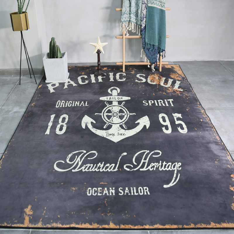 Tendance personnalité rétro tapis nordique style industriel tapis salon chambre étude chambre chevet décor haute qualité tapis