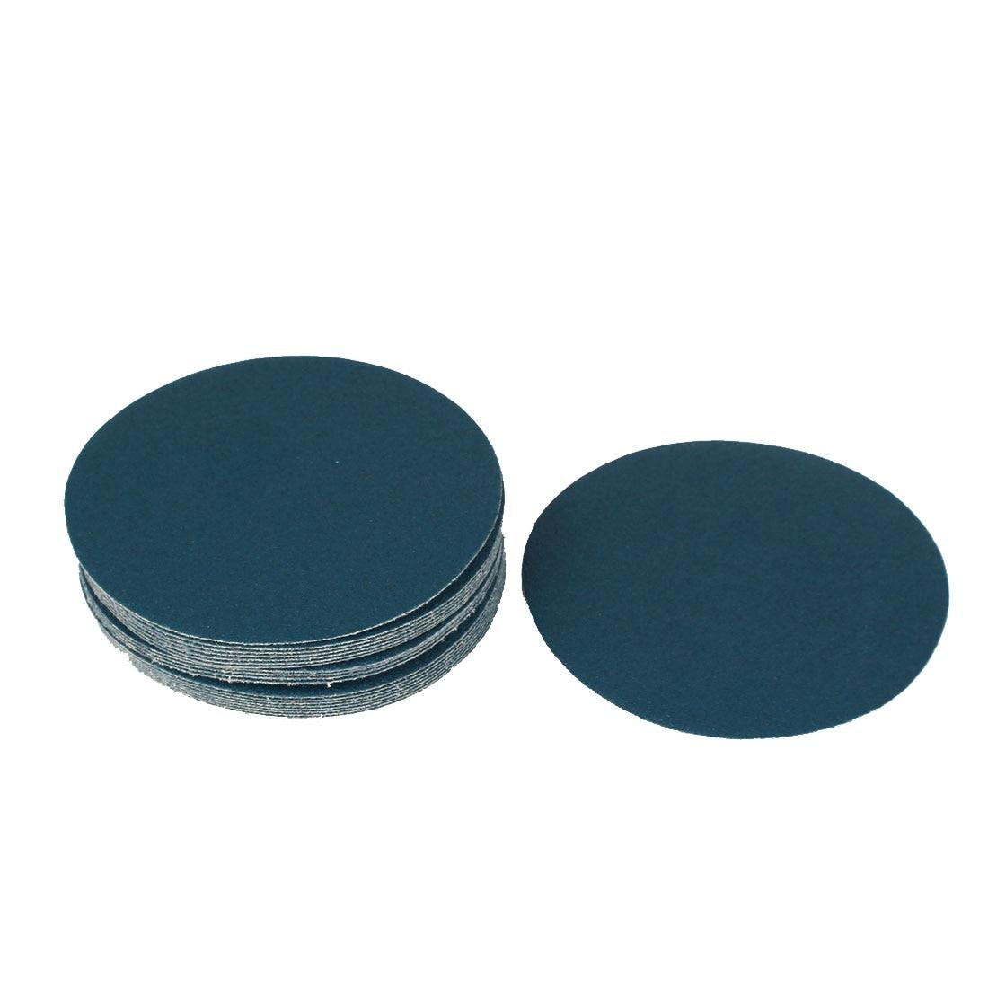 "5"" Sandpaper Auto Car Paint Polishing Sanding Disc Hook And Loop Fastener 100 Grit 20Pcs"