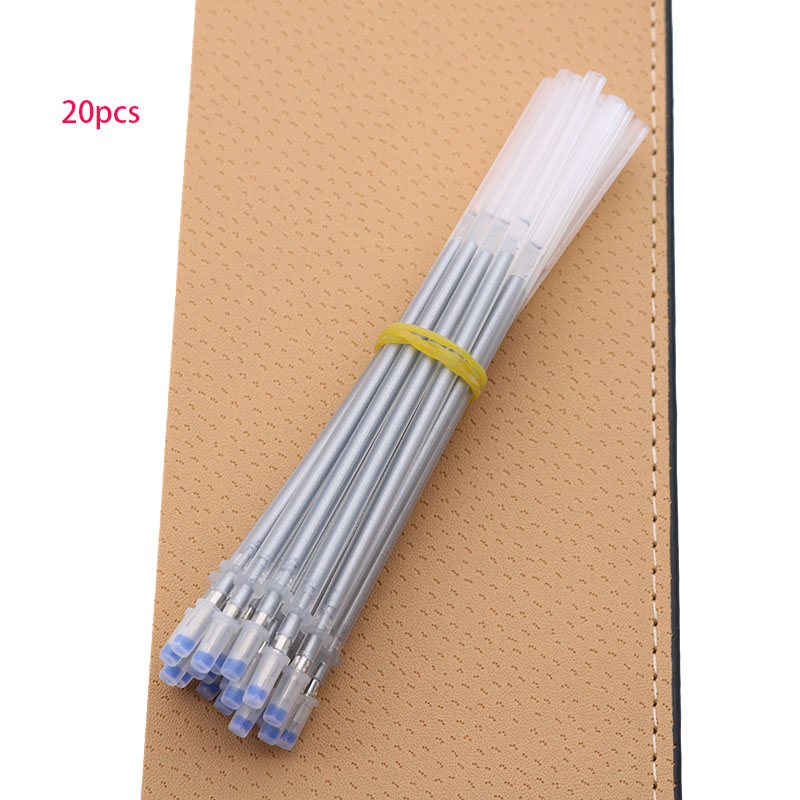 20pcs Silver Flash Gel Pen Color Flash Pen Cart Drawing Flash Refill 0.8mm Child Student Stationery School Office Supplies