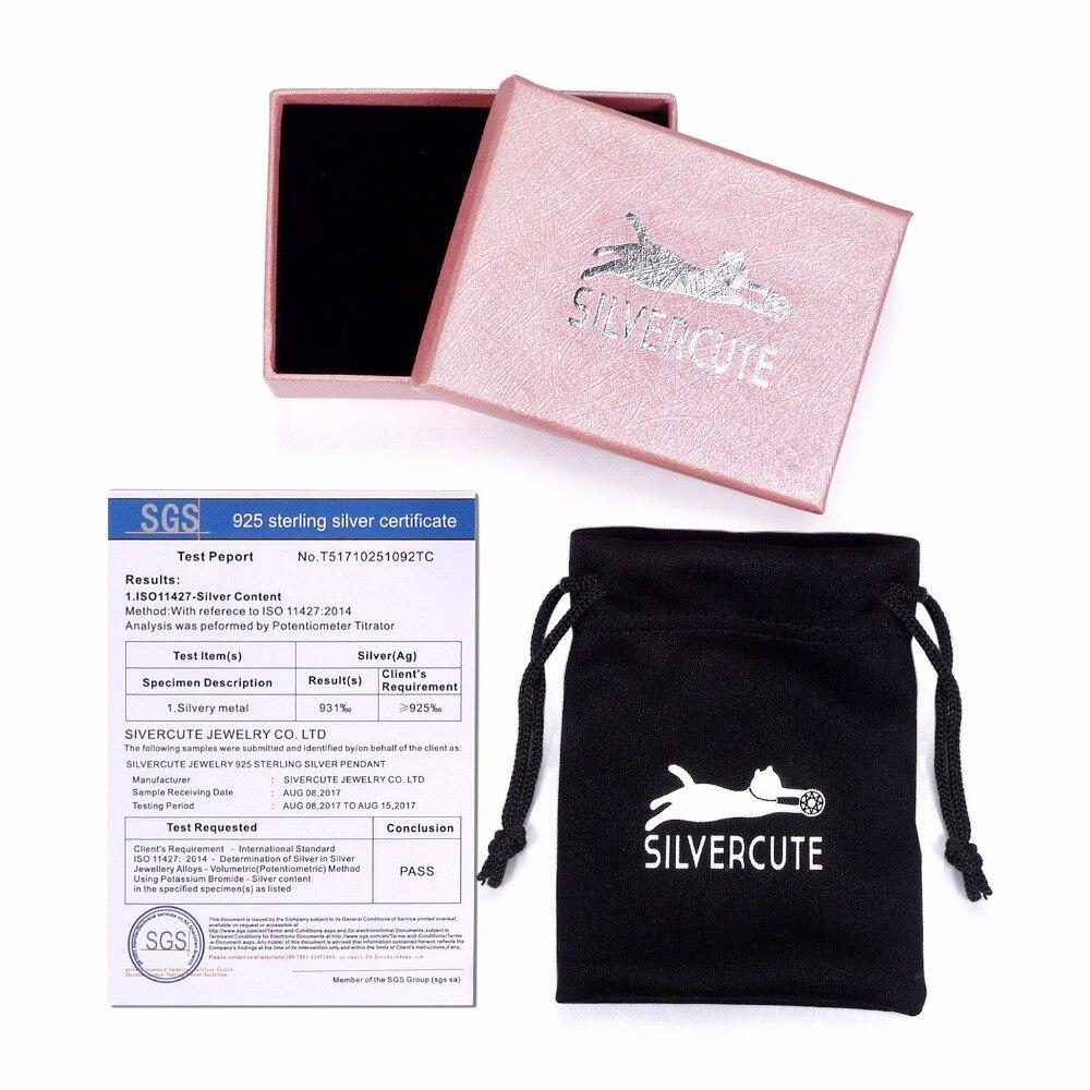Silvercute 100% Real 925 Sterling Silver Moon Cat Colgante y Collar - Joyas - foto 6