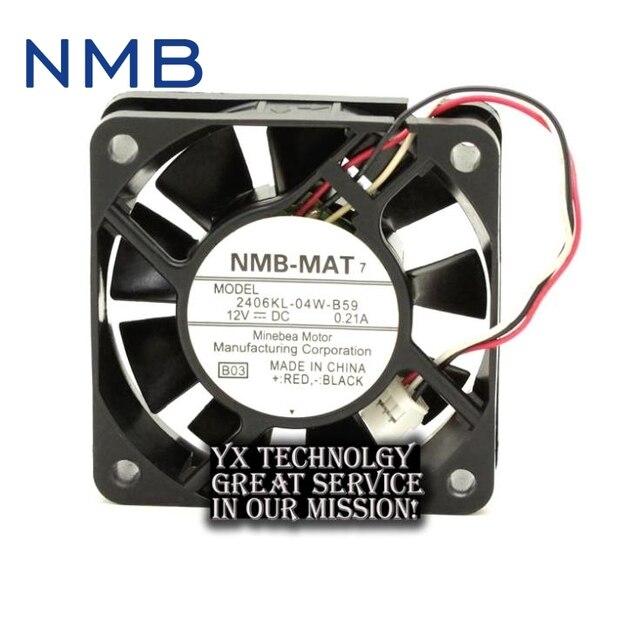 NMB Neue Minebea 2406KL 04W B59 12 V 0.21A 6015 6 CM draht speed ...