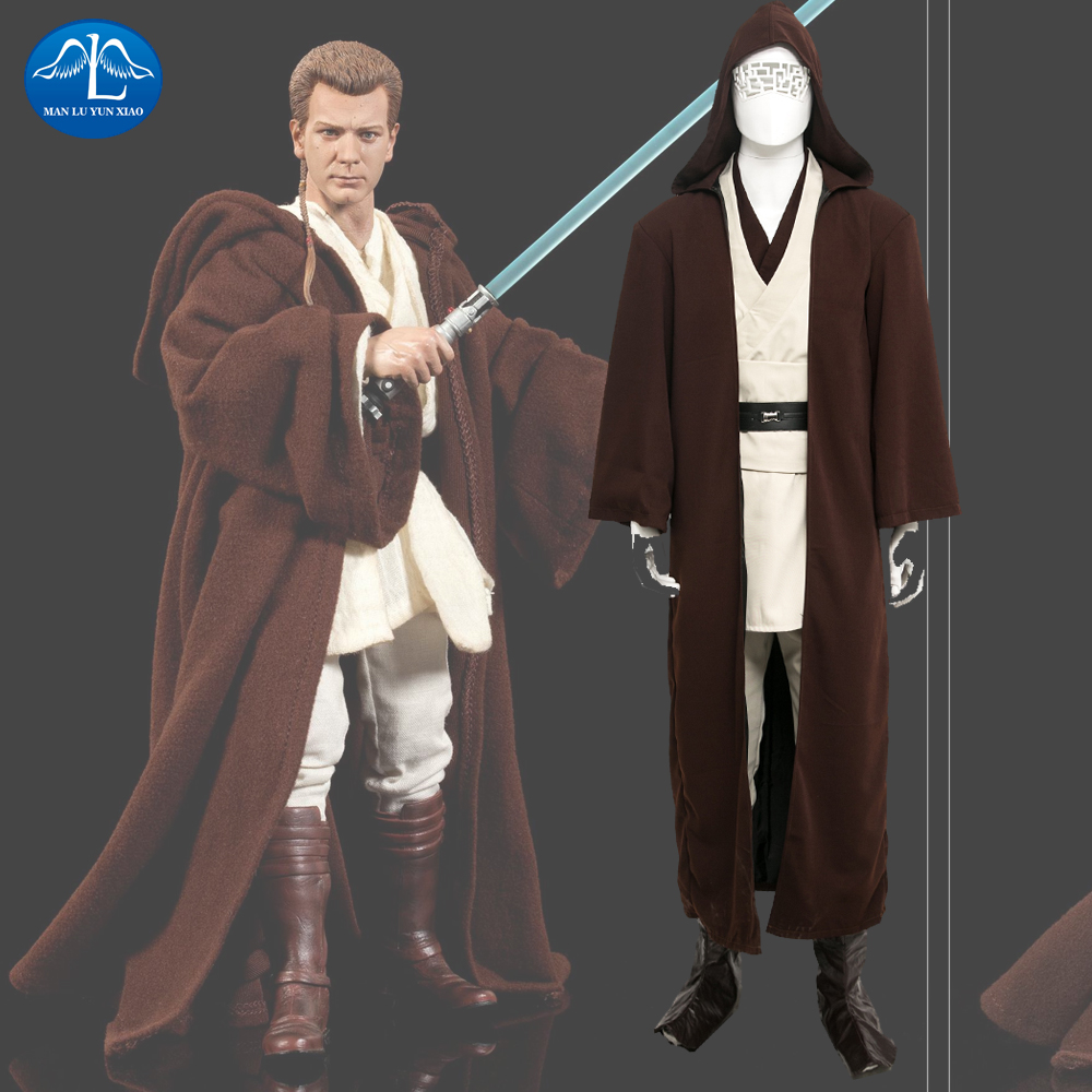 MANLUYUNXIAO Men's Costume Jedi Knight Obi-Wan Kenobi Cosplay Costume Deluxe Costume Halloween Costume For Men Custom Made